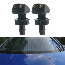 Universal 2Pcs Car Front Windscreen Washer Wiper Nozzle Water Spray DIY Kits Water Column Injection Replacement Parts For VW