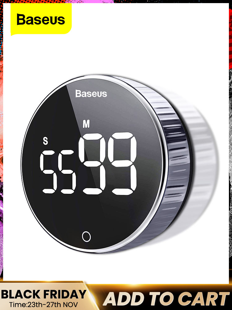Kitchen-Timer Alarm-Clock Stopwatch Cooking-Shower Study Magnetic Digital Countdown Baseus