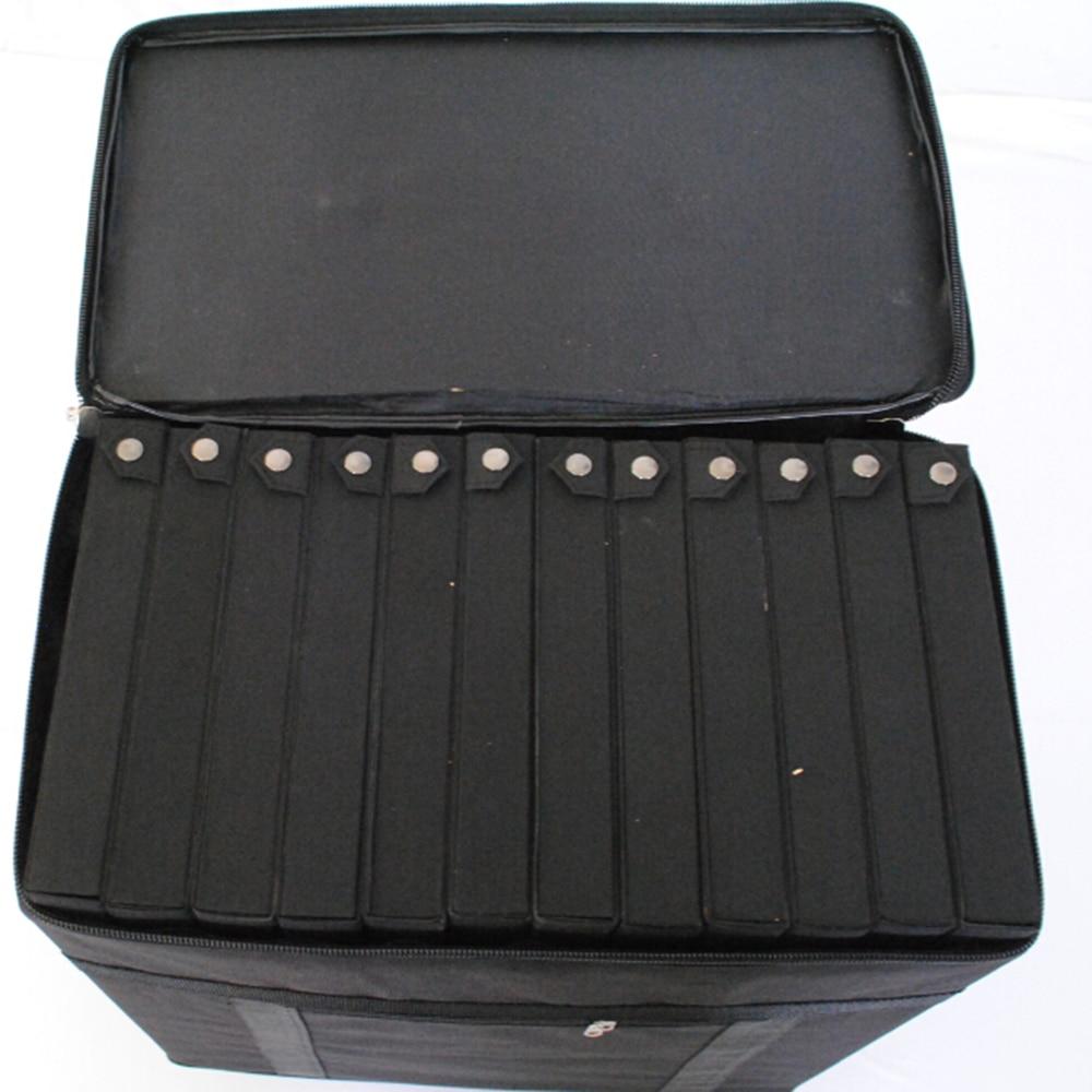 Gafas caja de almacenamiento maleta gafas muestra bolsa con capacidad de 180 piezas oftálmica marcos o 96 piezas gafas - 5