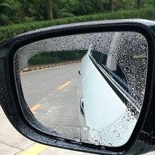 2PCS Anti Fog Car Rearview Mirror Window Clear Film Protective Rainproof Rear View Mirror Soft Film Auto Accessories Car Sticker