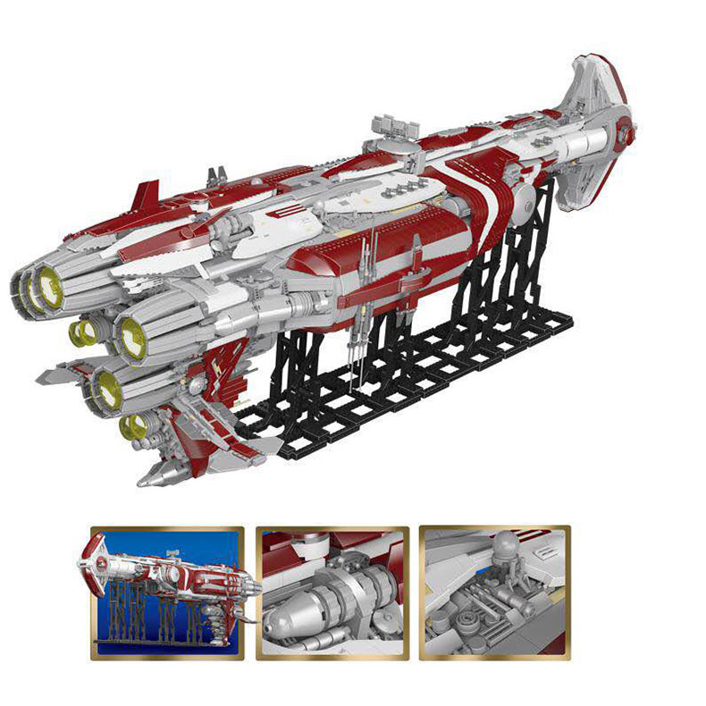 05079 Star Toys Wars The MOC Zenith Old Republic Escort Cruiser Model Compatible With Legoing Building Blocks Kid Christmas Gift 12