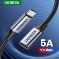 UGREEN USB C Verlängerung Kabel Männlich zu Weiblich Typ C Extender Cord Thunderbolt 3 für Nintendo Schalter MacBook Pro Google pixel 3 2
