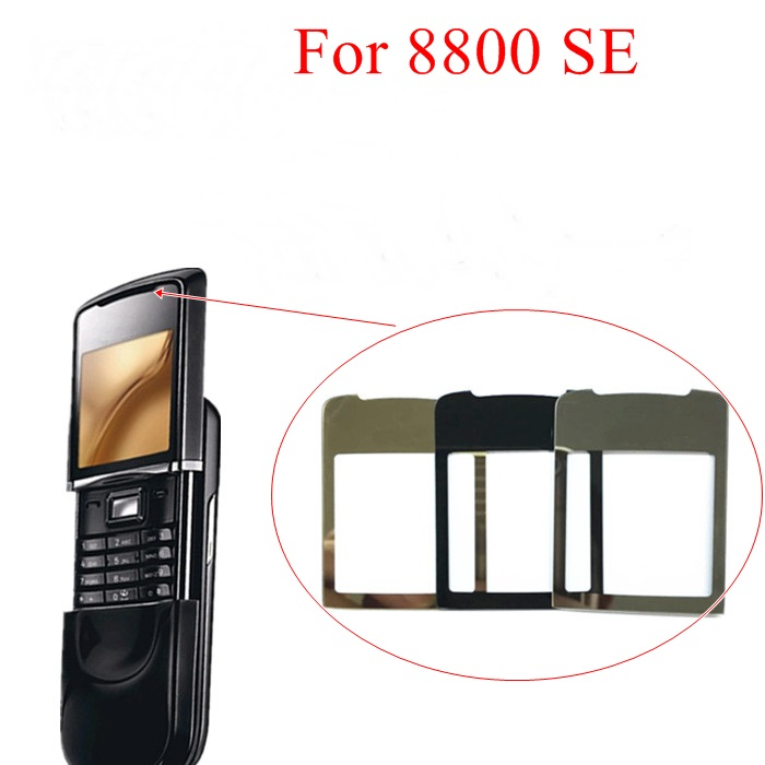Novaphopat Black/Golden Glass Mirror Screen For Nokia 8800SE 8800 SE 8800 Sirocco Glass Lens Panel With Adhensive Tape +tracking