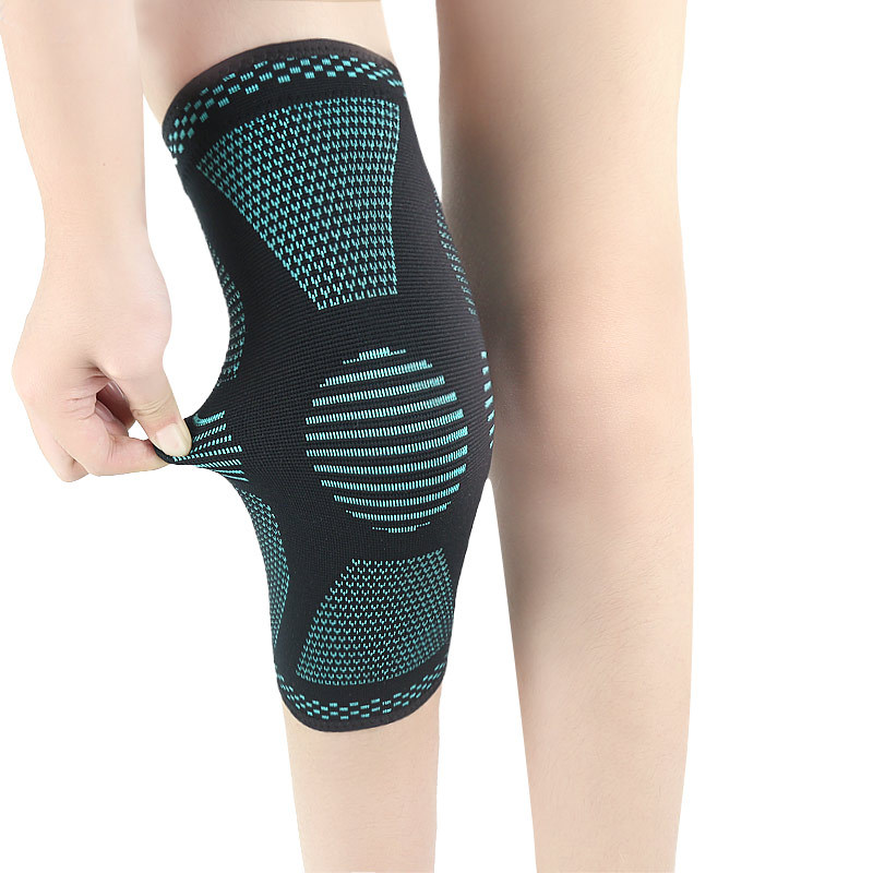 Knitting Kneepad Breathable Knee Support Sports Womens Mens Knee Sleeve Running Basketball Mountain Climbing Leg Running Sleeve