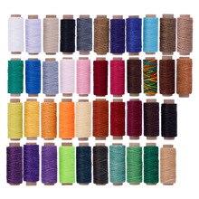 150D 12 м плоские Вощеные швейные нитки Вощеная полоска шнур инструмент для ремесленного пошива для DIY кожаные инструменты Портативный вощеный моток веревки