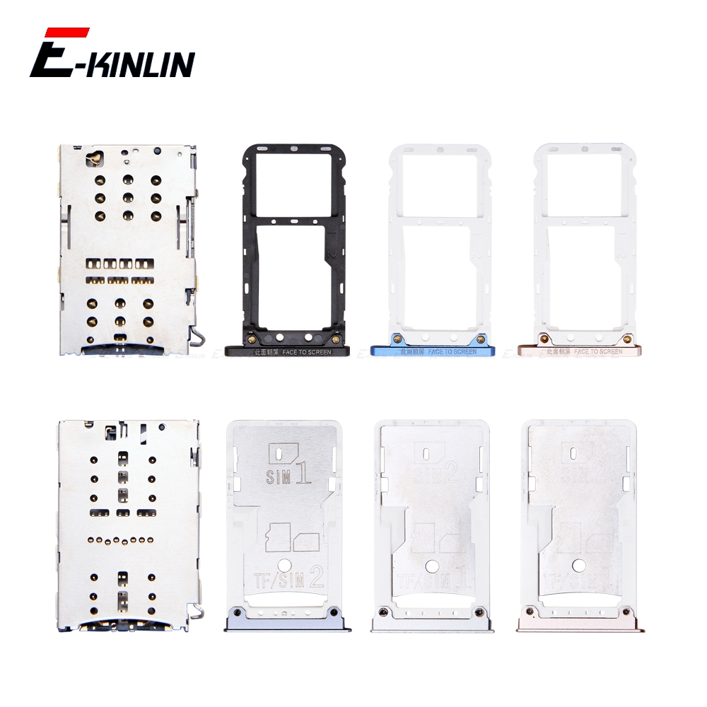 Micro SD / Sim Card Tray Socket Adapter For XiaoMi Mi Max 3 2 Connector Holder Slot Reader Container Parts
