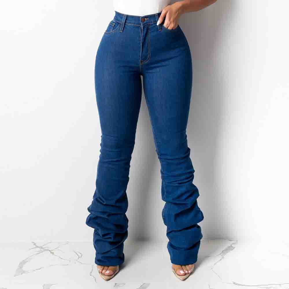 2019 Ladies Push Up Jeans With High Waist Autumn Winter Women Fashion Skinny Stretch Female Jeans Pants Trousers Denim Femme