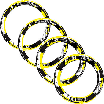 4 X  Motorcycle Full tire coverage Thick Edge Inner Outer Rim Sticker moto Wheel Decorative protection For DUCATI 959 ducati959