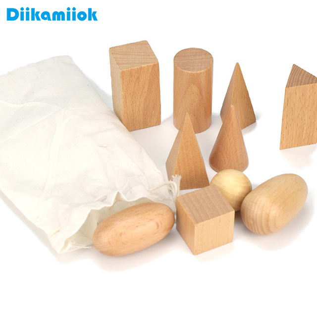 Baby Montessori Geometry Teaching Kids Early Education Wooden Building Blocks Sensory Educational Toys for Children Wood Stack