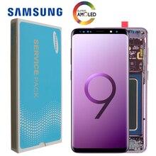 2960*1440 100% จอ LCD เดิมที่มีกรอบสำหรับ SAMSUNG Galaxy S9 PLUS S9 + G965F G965 หน้าจอสัมผัส digitizer + Service Pack