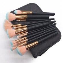 цена на 12Pcs Makeup Brushes Foundation Eyeshadow Eyebrow Makeup Brush Set Blending Brush Cosmetic Brush