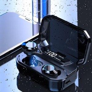 Image 2 - TWS G02 Bluetooth אוזניות V5.0 אלחוטי אוזניות 9D סטריאו מוסיקה IPX7 עמיד למים אוזניות עם 3300mAh סוללה ארוכה חיים