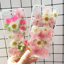 Real Dried Flower Handmade Phone Cases For iPhone X XS Max XR 6 6S 7 8 Plus Case Cover For Samsung Galaxy S8 S9 S10 Plus Note8 9 real dried flower handmade phone cases for iphone x xs max xr 6 6s 7 8 plus case cover for samsung galaxy s8 s9 s10 plus note8 9