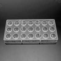 Clear Hard Chocolate Maker Polycarbonate DIY 21 Half Ball Candy Mold Mini Mould|Waffle Molds|   -