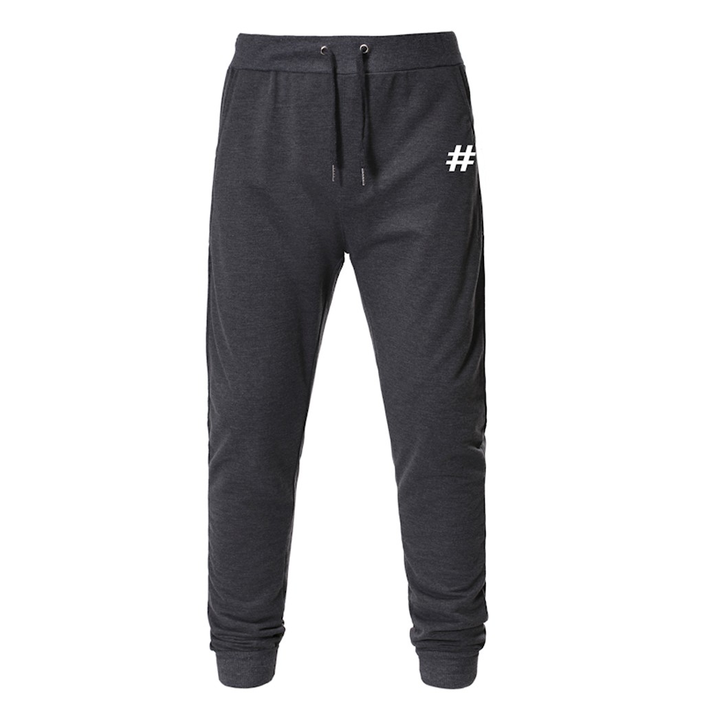 Men's Joggers Trousers Plus Size 2019 Fashion Casual Outdoor Sports Running Drawstring Printing Soft Long Sweatpants Pantalones