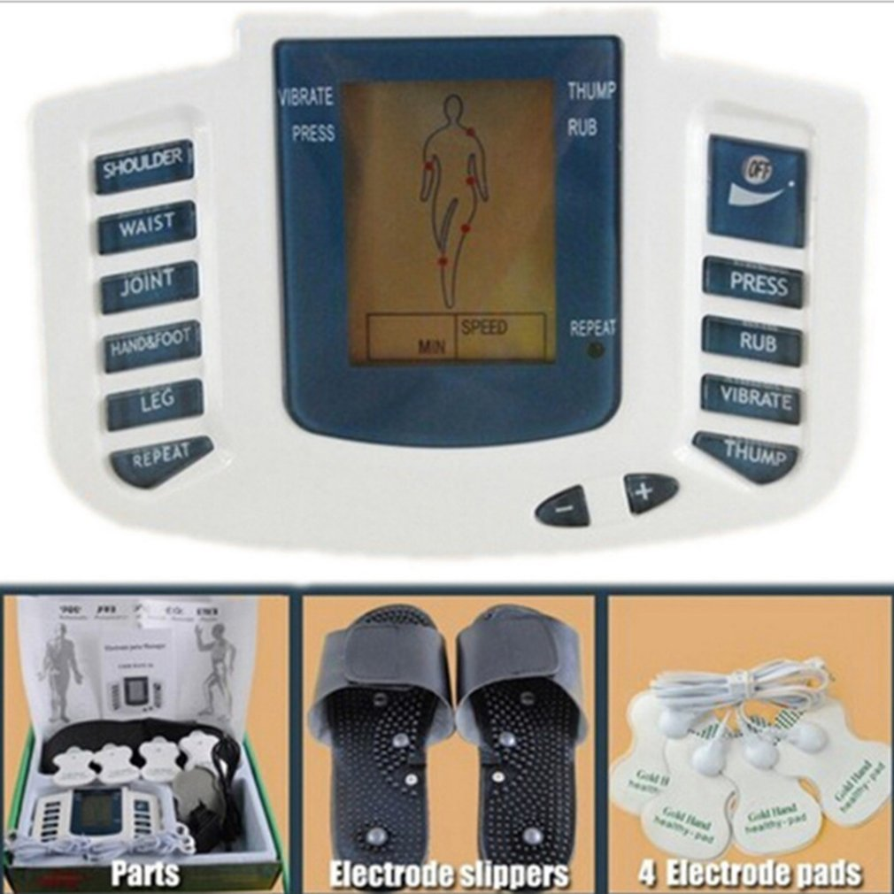 Full Body Relax Muscle Therapy Massager Pulse Tens Acupuncture Professional Fashion Portability Electric Stimulator