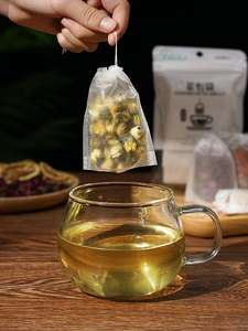 Scented-Tea-Bag SEAL-FILTER-PAPER String Teabags Herb Empty Heal Disposable 100pcs/Lot