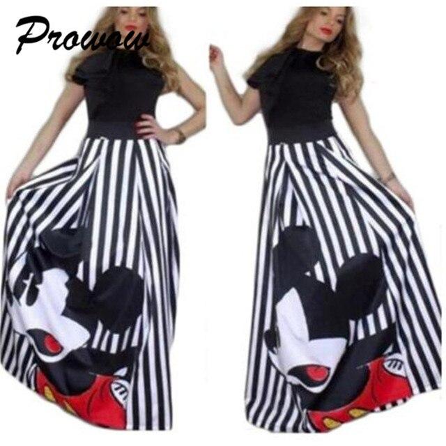 Plus Size Mickey Long Skirt Women Elegant Elastic High Waist Cartoon Casual Women Pleated skirt Ladies skirt Women Streetwear 4
