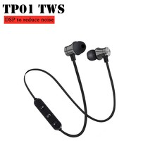 Bluetooth Earphone Magnetic Nirkabel Bluetooth Hearphone Stereo Olahraga Tahan Air Earbud Wireless In-Ear Headset dengan MIC(China)