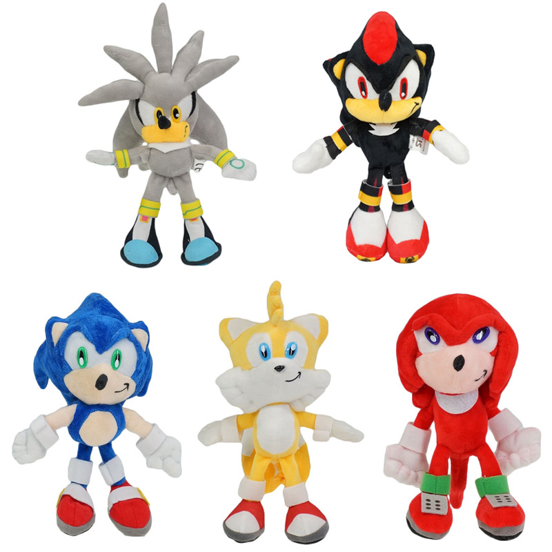 25cm Sonic The Hedgehog Plush Toys Black Blue and Red Sonic …