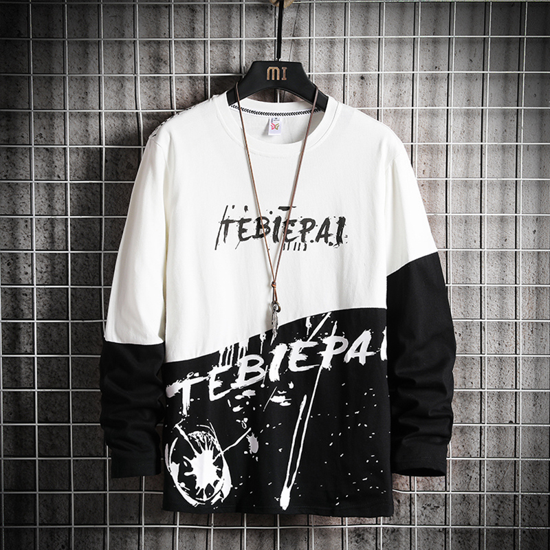 Spring & Summer Brand  Men  Sweatshirts Men Letter Print Long Sleeve Hoodie Hip Hop Streetwear Clothing Plus Size