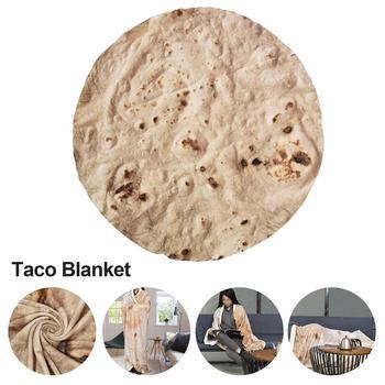 Burritos Throw Blankets Soft Warm Flannel Tortilla Throw Blanket For Bed Fleece Sofa Plaid Plush Bedspreads Manta Burrito Koce