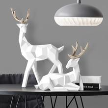 Estatua Deers, escultura de resina, decoración de renos, decoración nórdica para el hogar, estatuas, figurillas de ciervos, decoración moderna, adorno de sobremesa