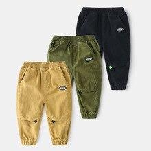 Autumn Boy Trousers Pants For Boys Sweatpants Cotton Long Trousers Elastic Waist Casual Pants Boys Joggers