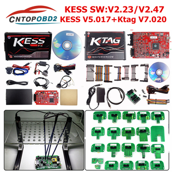 Online V2.53 EU Red Kess V2 V5.017 V2.47 Ktag V7.020 No Token Limited OBD2 Manager Tuning ECM Titanium Ktag V2.25 ECU Programmer