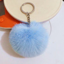 31 Colors Pompon Keychain 6 8 10 cm Faux Beaver Fur Ball Key Chain Fluffy Bunny Pom Keyring Pompon Bag Charms Car Tassel Pendant