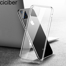 ciciber Luxury Soft TPU Case For iPhone 11 Pro Max 7 8 6 6S Plus Transparent Phone Cases for iPhone XR X XS Max 5 5S SE Cover ciciber dragon ball phone case for iphone 11 pro max xr x xs max tempered glass cover cases for iphone 7 8 6 6s plus funda coque
