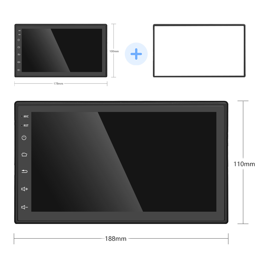 Podofo Android 8.1 2 Din Car radio Multimedia Video DVD Player Universal auto Stereo GPS MAP For Volkswagen Nissan Kia TOYOTA (8)