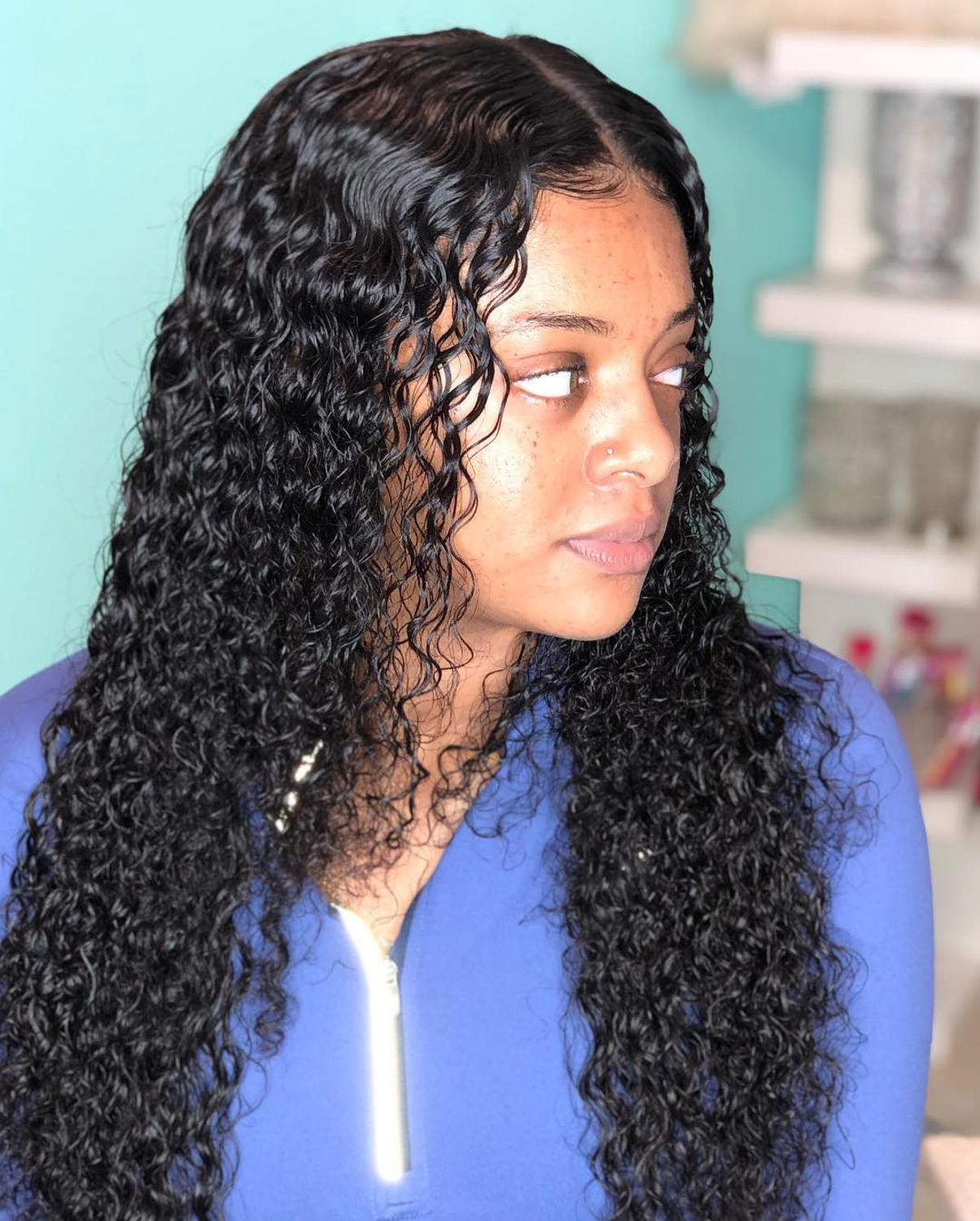 Luvin Curly 250 Density Lace Front Human Hair Wigs Deep Wave Remy Hair Short Bob Wigs For Black Women Long Lace Frontal Wig