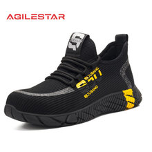 2021 New Breathable Mesh Safety Shoes Men Light Sneaker Indestructible Steel Toe Soft Anti-piercing Work Boots Plus size 37-48