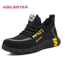 Chaussures de sécurité en maille respirante pour hommes, baskets légères, bout en acier Indestructible, bottes de travail souples Anti-perçage, nouvelle collection 2021, 37-48, grande taille
