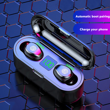 Buy TWS 5.0 Wireless Bluetooth Earphone Fingerprint Touch Stereo Bass Earbud Airdots Sports Earphone With Charging Box For iPhone directly from merchant!