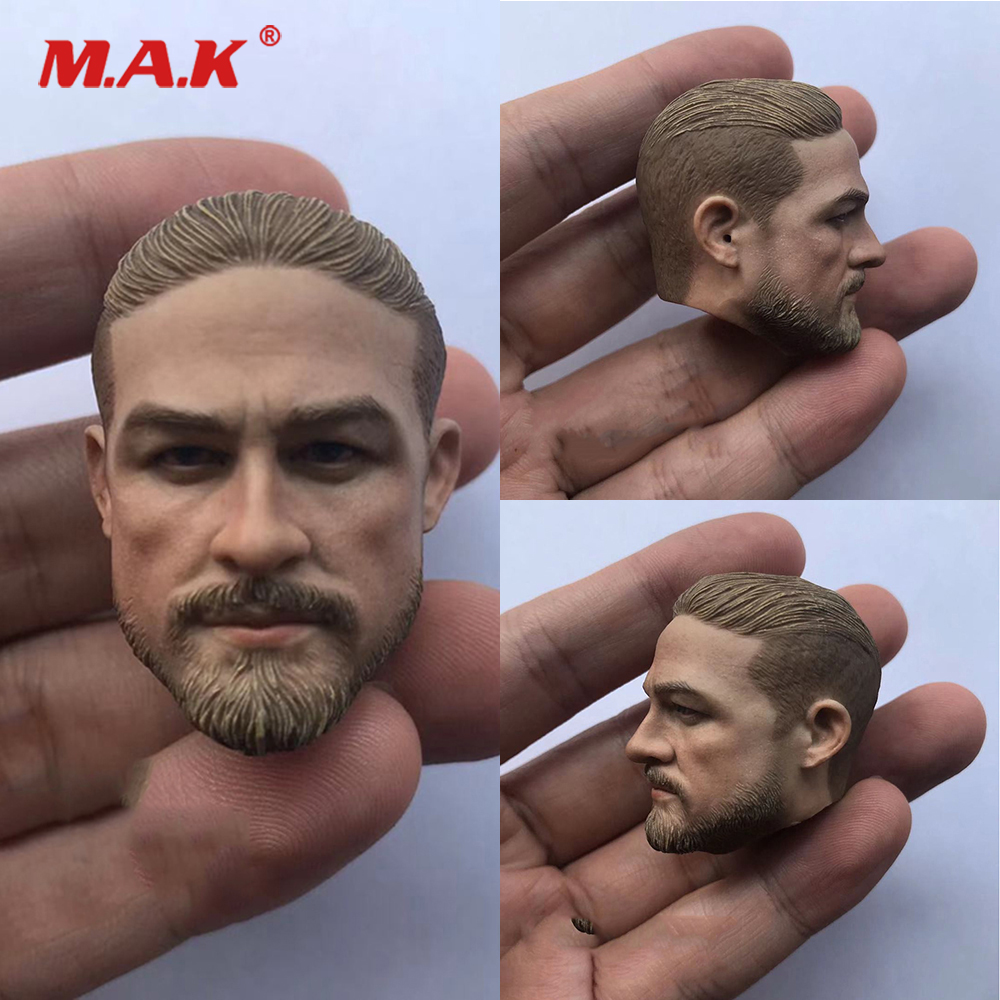 In Stock 1/6 Male Figure Accessory The Lost City Of Z Sons Of Anarchy Charlie Hunnam Head Sculpt Carved Model For 12'' Body