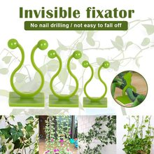 10PCS Plant Climbing Wall Self-Adhesive Tied Fixture Vine Buckle Hook Plant Clip