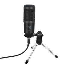 USB Microphone Condenser D80 Recording Microphone with Stand and Ring Light for PC Karaoke Streaming Podcasting for Youtube