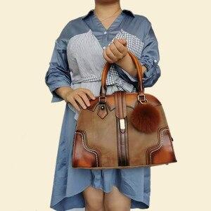 Image 5 - Retro Genuine Leather Handbag Luxury Women Hobo Bags Designer High Capacity Tote Ladies Shoulder Bag Female 2019 Bolsas Feminina
