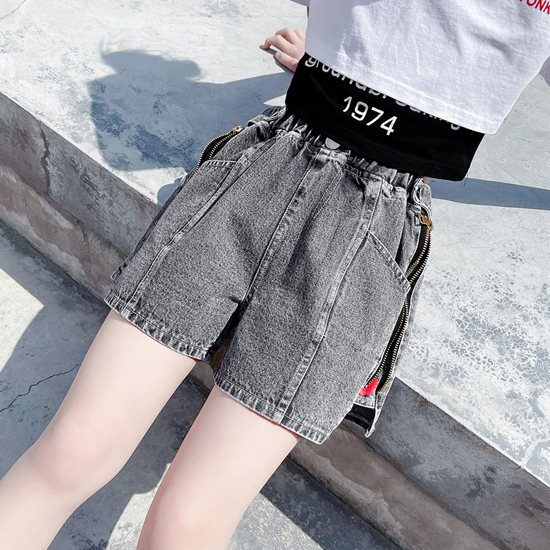 Teen Girls Short Trousers Jeans 2021 Summer New Girl Denim Shorts Summer Kids Girl Outfit Girl Bottoms 10 to 12 Girls shorts