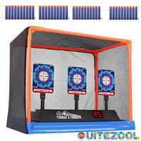 Armas de puntuación de precisión para paintball, reinicio de objetivo eléctrico para Nerf, juguetes al aire libre, pistola de pellets, accesorios de juguete