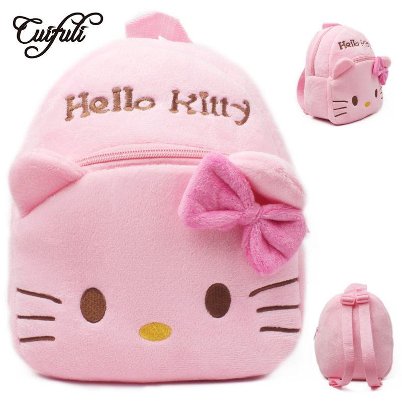 Hello Kitty Toddler Kids Children Boy Girl Cartoon Stuffed Plush Backpack Schoolbag Shoulder Bag Rucksack Baby Girls