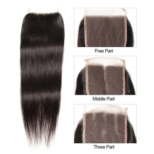 Image 4 - KLAIYI Hair Brazilian Straight Hair Bundles With Closure 100% Human Hair With Closure Remy Hair Weaves With Lace Closure