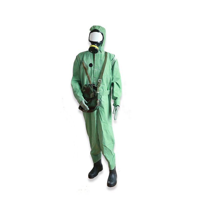 In Large Quantities Sale Fang Du Yi Chemical Protective Clothing One-Piece Protection Base Fabric Glue Gas Boot Cover Chemical P