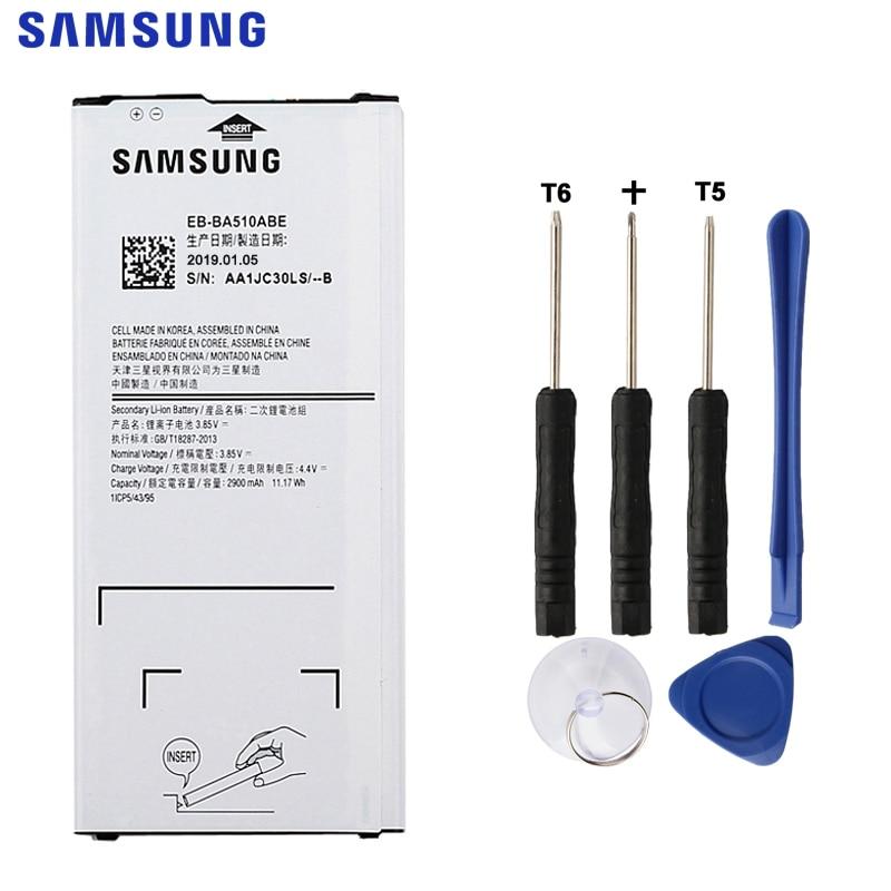 SAMSUNUG Original Replacement Battery EB-BA510ABE For Samsung Galaxy A5 2016 Edition A510 A510F A5100 EB-BA510ABA 2900mAh