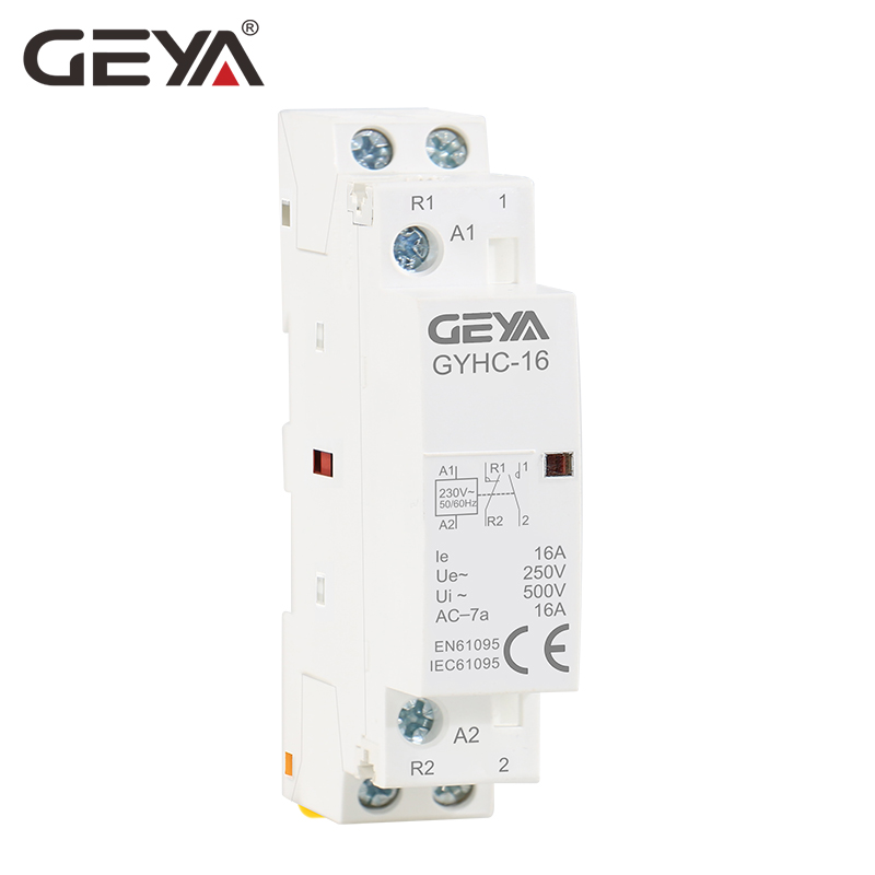 GEYA GYHC Modular Contactor 2P 16A 20A 25A 2NO Or 2NC Or 1NO1NC220V Automatic Household Contactor Din Rail Type