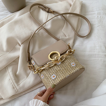 Hot Straw Bucket Bags for Women 2020 Summer Small Shoulder Bag Casual Purses and Handbags Female Messenger Crossbody Bags bucket women bag summer chain bags for women shoulder crossbody bag waterproof femlale purse and handbags mickey sac hot