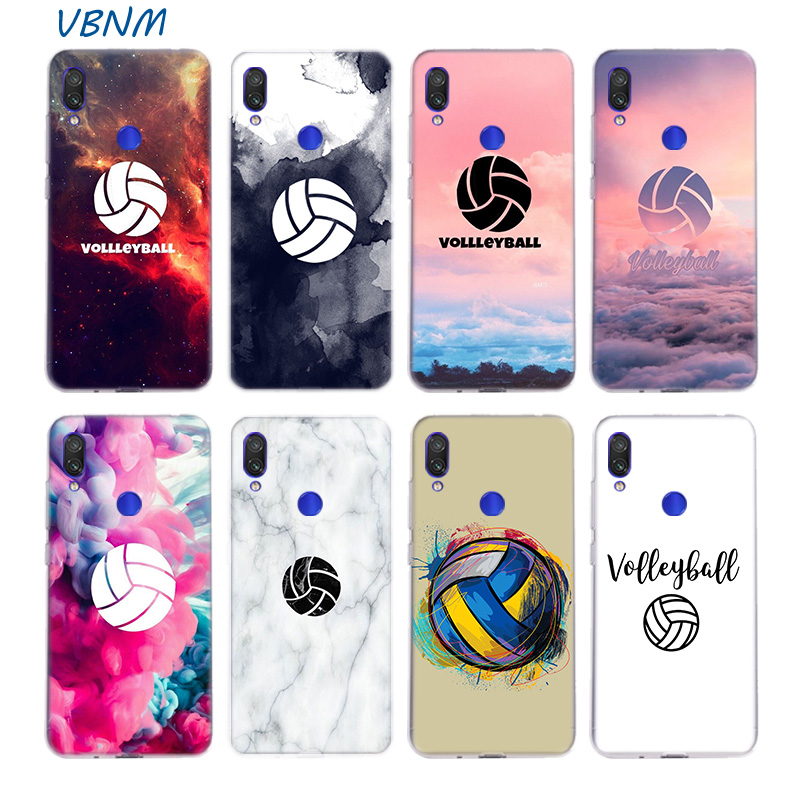 Volleyball Painted Silicone Case For Xiaomi Redmi Note 8 7 6 Pro 5 4 4X K20 7A S2 5A 6A Y3 Xiomi A3 9T 9 SE F1 S2 Cover