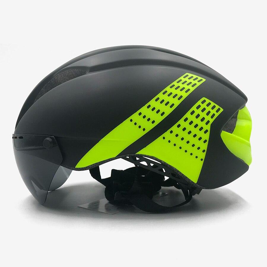 Велосипедный шлем, интегральный триатлон, пробный велосипедный шлем, Сверхлегкий дорожный Mtb горный велосипедный шлем с 3 линзами casco aero ...